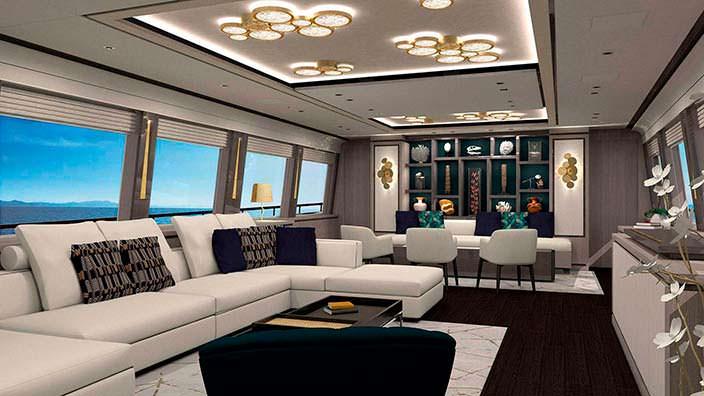 Дизайн интерьера яхты Couach 3700 Sport