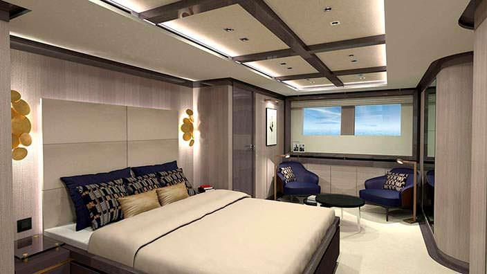 Дизайн гостевой каюты яхты Couach 3700 Sport