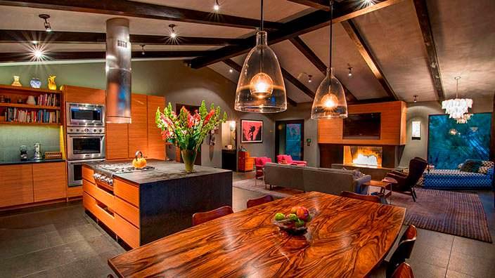 Кухня, столовая и гостиная под одной крышей