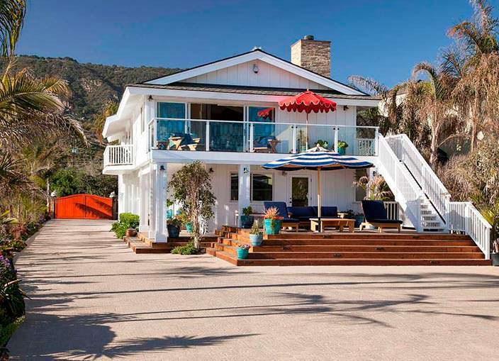 Пляжный дом Милы Кунис и Эштона Кутчера в Санта-Барбаре