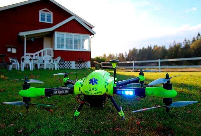 Flypulse: дрон с дефибриллятором