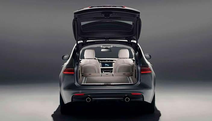 Конфигурации багажника Jaguar XF Sportbrake 2018 года