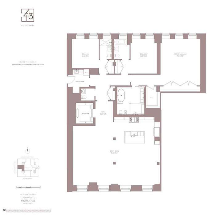 Планировка квартиры Джейка Джилленхола на Манхэттене