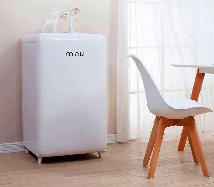 Тихий ретро-холодильник Xiaomi Mini J Retro: шум до 38 Дб