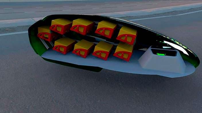 Кузов робота адресной доставки Kar-Go в разрезе