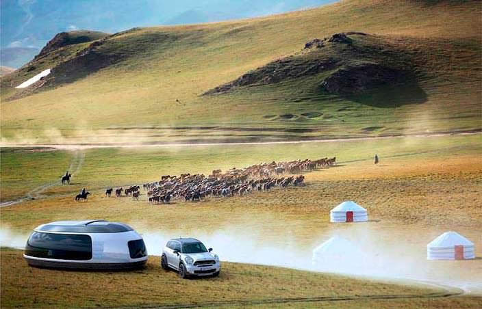 Фото | Шикарный кемпер Camping Pod для MINI Countryman