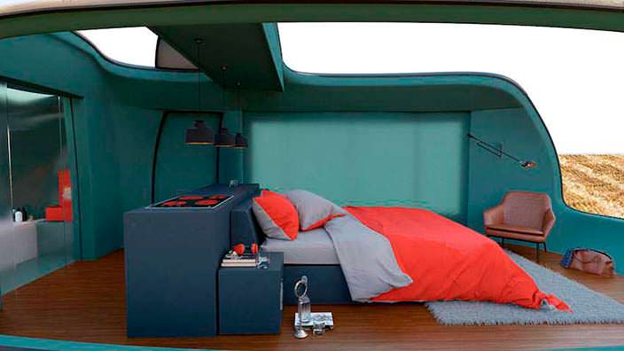 Дизайн интерьера кемпера Camping Pod от Anomaly