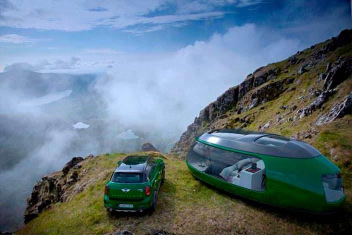 Концепт элитного дома на колесах Camping Pod от Anomaly