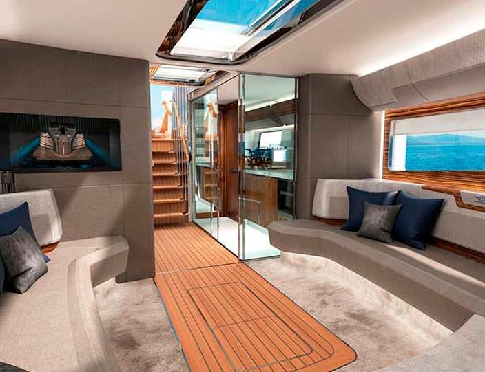 Дизайн каюты яхты Rolls-Royce Aeroboat S6
