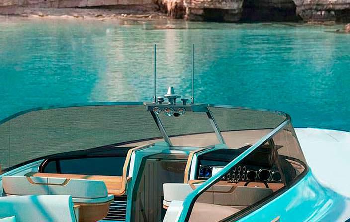 Кокпит яхты Rolls-Royce Aeroboat S6