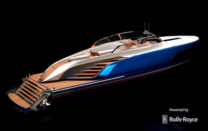 Фото | Спортивный катер Rolls-Royce Aeroboat S6
