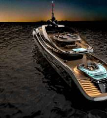 Rossinavi и Pininfarina показали яхту Aurea concept | фото