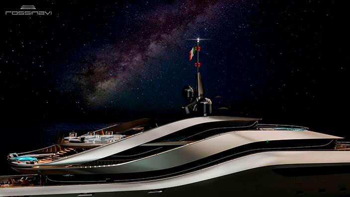 Фото | 70-метровая яхта Aurea concept от Rossinavi