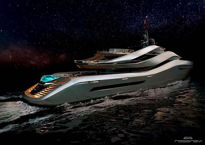 Фото | 70-метровая яхта Aurea concept. Дизайн Pininfarina