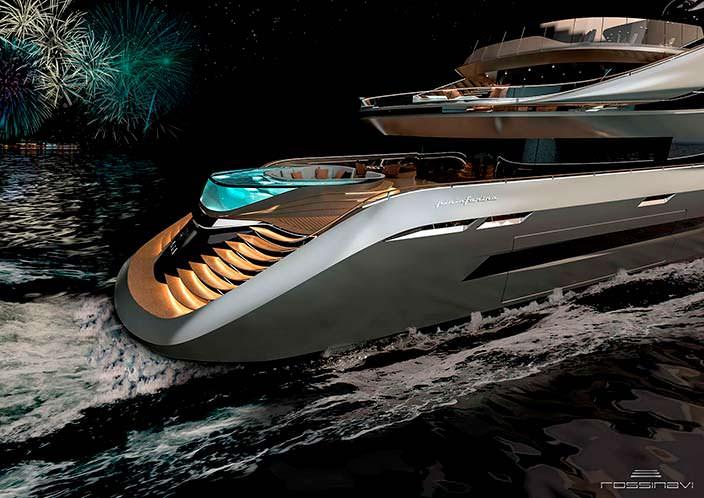 Суперъяхта Aurea concept от Pininfarina