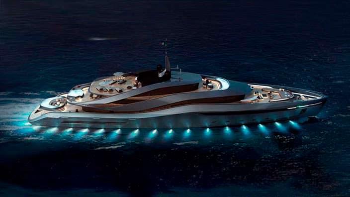 Яхта Aurea concept с подсветкой