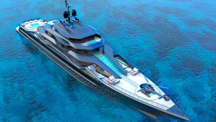 Роберто Курто представил концепт 101-метровой яхты | фото