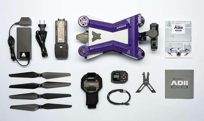Комплектация квадрокоптера с экшн-камерой AirDog ADII