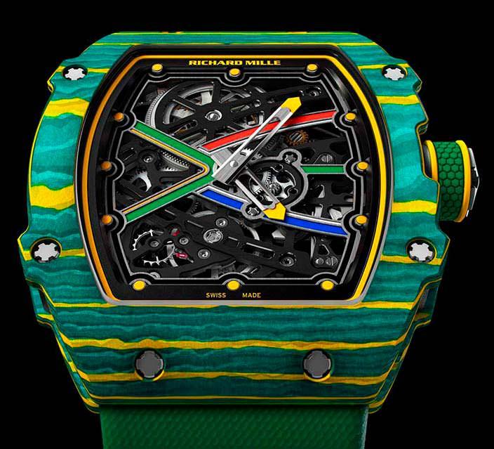 Швейцарские часы в цвет национального флага RM 67-02 Sprint