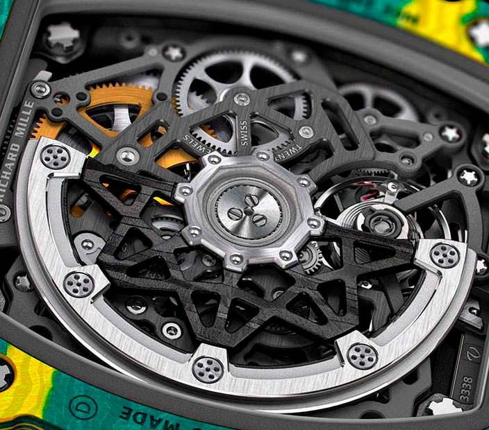 Швейцарские часы-скелетоны для спортсмена RM 67-02 Sprint