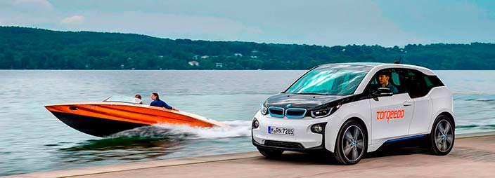 Электрокар BMW i3 и электро-катер Torqeedo Deep Blue