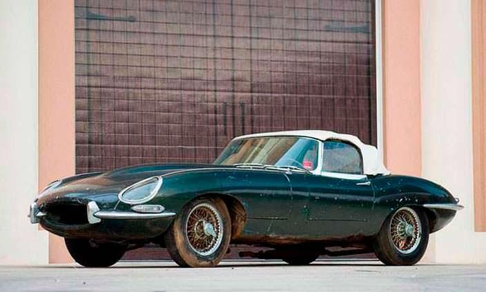 Полностью оригинальный Jaguar E-Type Roadster 1963 года