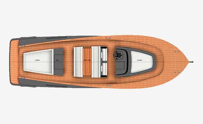 Схема маленького катера Alen 45