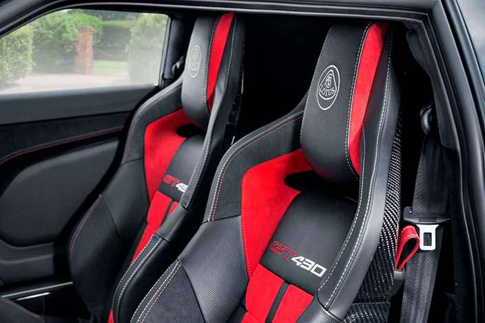 Спортивные сиденья Lotus Evora GT430