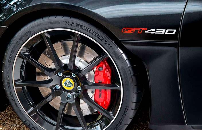 Колеса Lotus Evora GT430 с шинами Michelin Pilot Sport Cup 2s