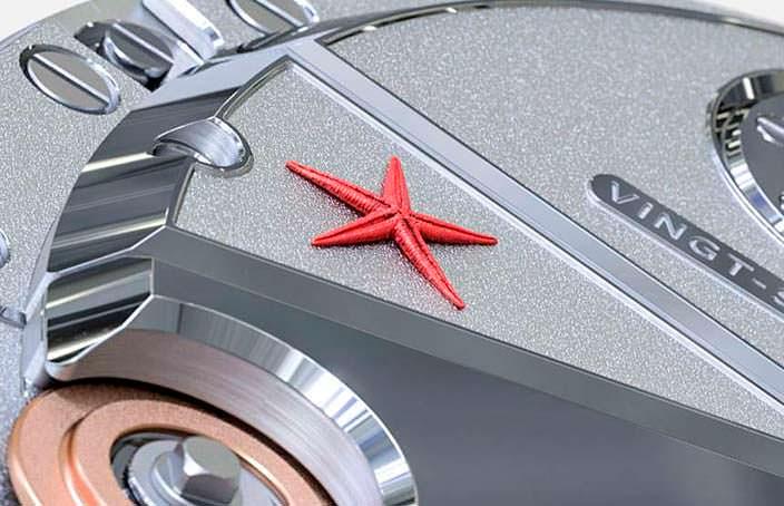Красная морская звезда как изюминка часов Montandon