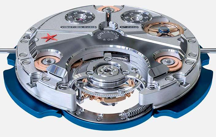 Конструкция часового механизма Montandon Windward TMA01 V1