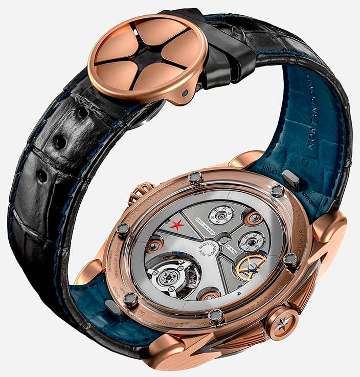 Бронзовые швейцарские часы Montandon