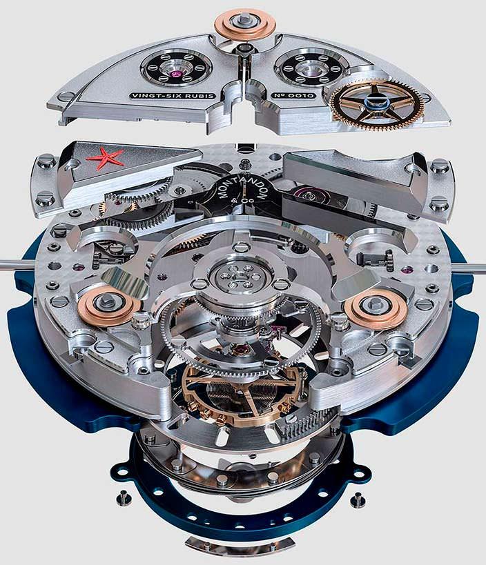 Часовой механизм Montandon Windward TMA01 V1 из 250 деталей