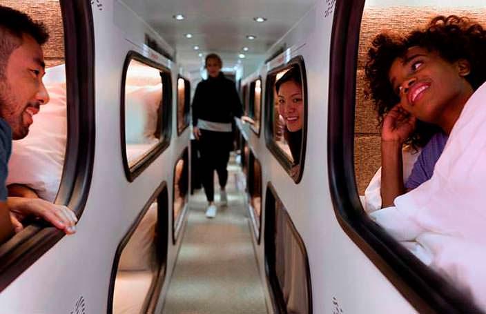 Cabin: отель на колесах для дальних поездок на 24 пассажира