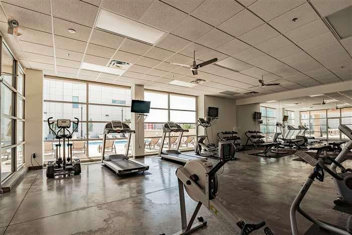 Спортзал в жилом комплексе White Provision Residences в Атланте