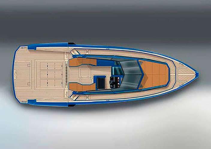 Прогулочный модульный катер от WA Yacht