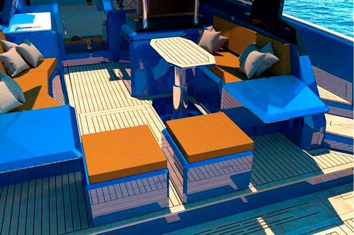 Палуба катера-трансформера WA Yacht