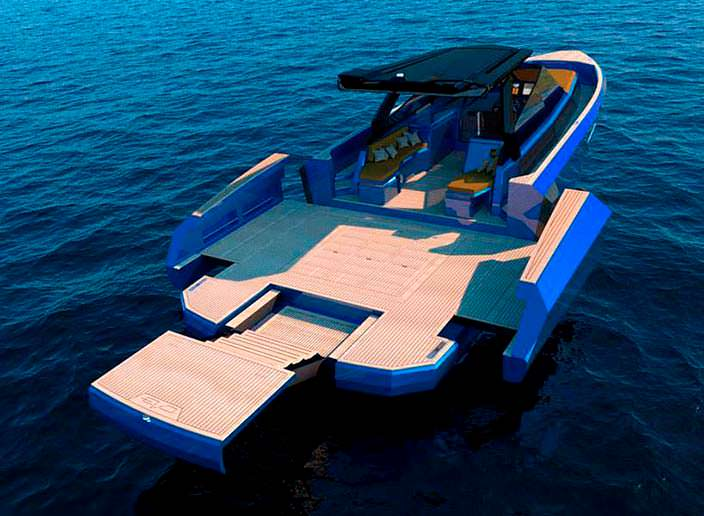 Трансформируемая палуба катера WA Yacht