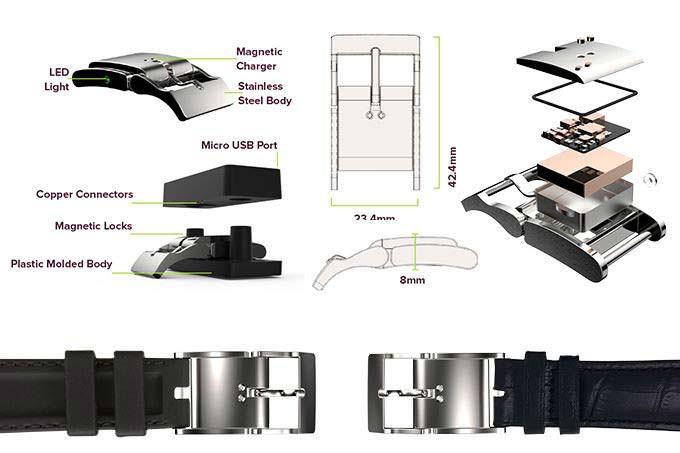 Конструкция умной пряжки для часов Smart Buckle
