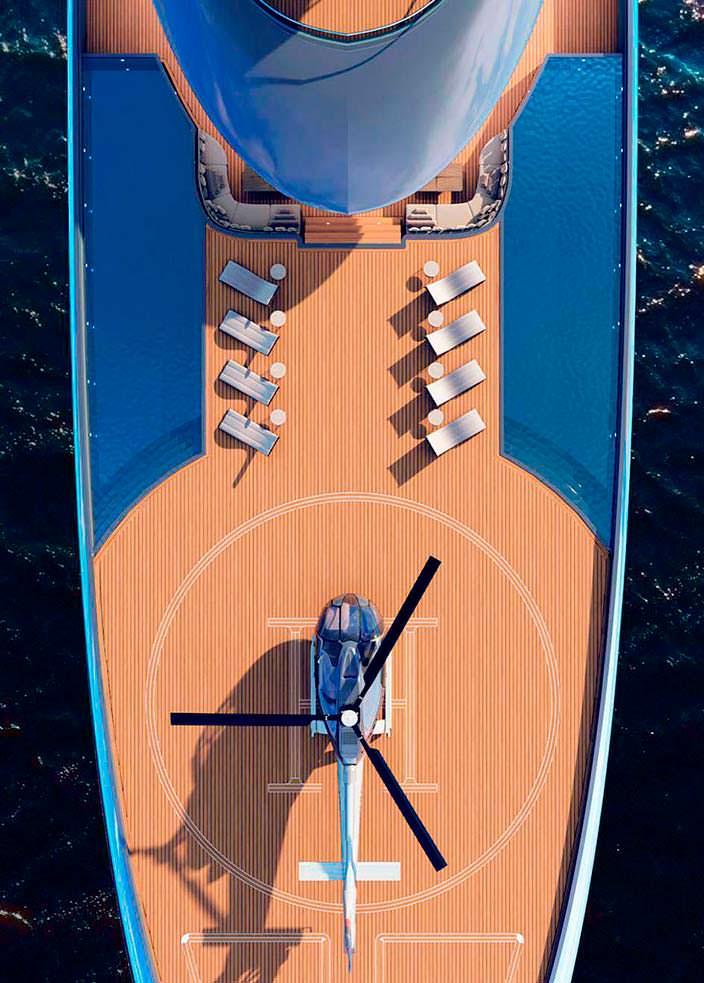 Яхты Vitality с вертолетной площадкой от Теодороса Фотиадиса