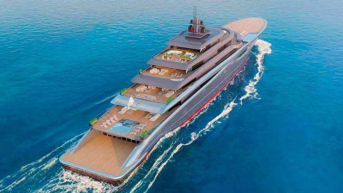 118-метровая суперъяхта Vitality. Дизайн Теодороса Фотиадиса