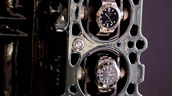 Автоподзавод часов в блоке двигателя BMW M52