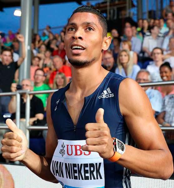 Олимпийский бегун из ЮАР Уэйд ван Никерк