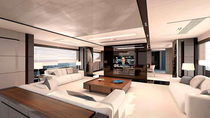 Дизайн интерьера яхты AEON 380 от Scaro Design