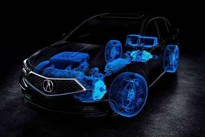 Acura RLX Sport Hybrid 2018 : V6 и три электродвигателя