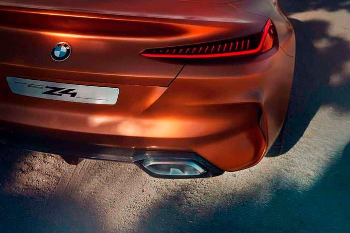 Дизайн выхлопных труб BMW Z4 Concept. 2017 год