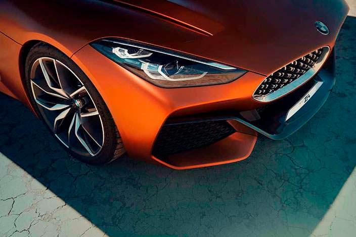 Агрессивные фары BMW Z4 Concept. 2017 год