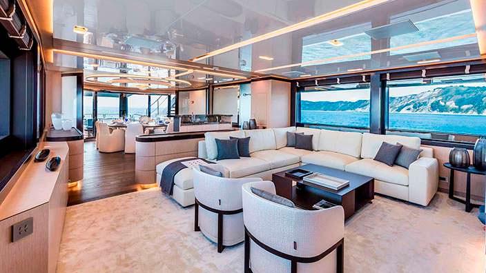 Салон яхты Clorinda от ISA Yachts