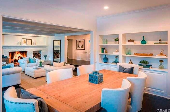 Дизайн столовой гостиной в доме Лорен Конрад