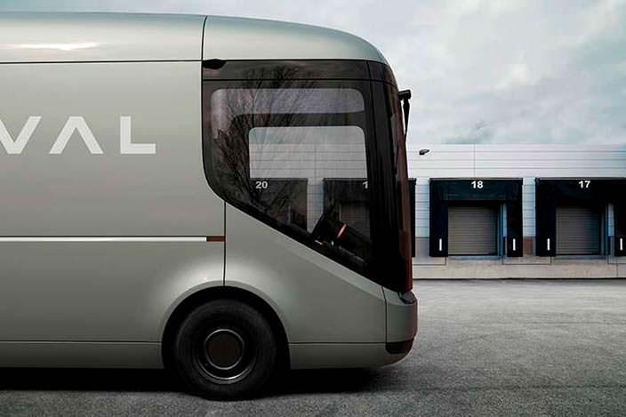 Почтовый электрический фургон Royal Mail и Arrival
